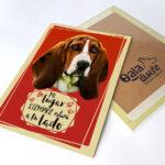Letrero decorativo basset hound