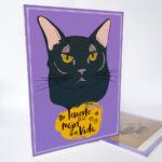 Letrero decorativo gato negro