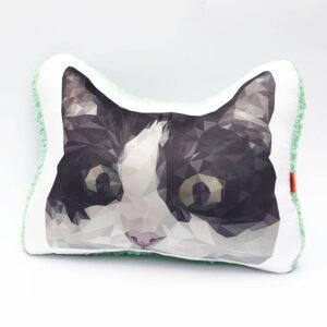 Almohada Decorativa Gato Low Poly