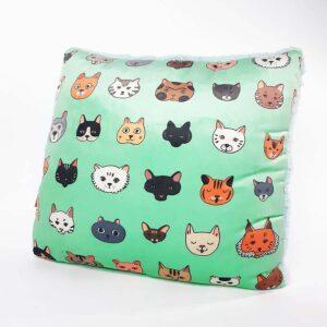 Almohada Decorativa textura gatos