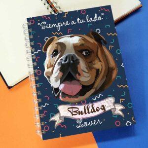 Cuaderno A5 Bulldog Inglés