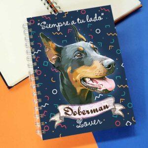Cuaderno A5 Doberman