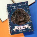 Cuaderno A5 poodle negro