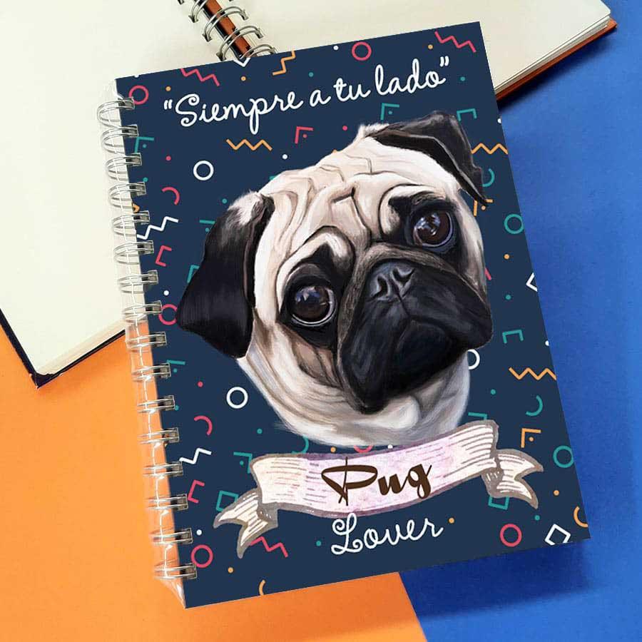 Cuaderno A5 pug