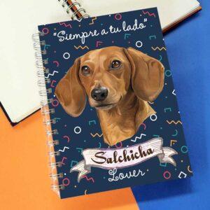Cuaderno A5 salchicha dachshund