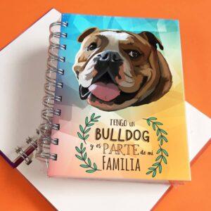 Libreta A6 Bulldog ingles
