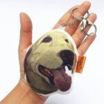 Llavero hecho a mano labrador
