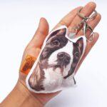 Llavero hecho a mano pitbull