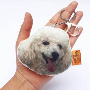 Llavero hecho a mano poodle