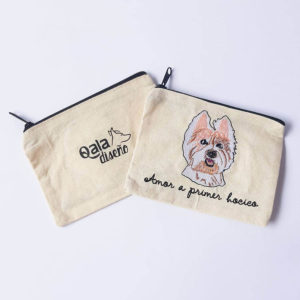 Monedero bordado westie