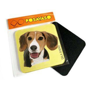 Posavaso acrilico beagle