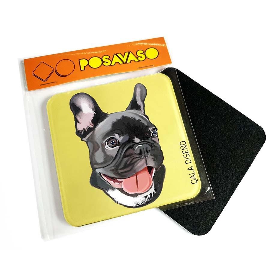 Posavaso acrilico bulldog francés