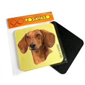 Posavaso acrilico salchicha dachshund