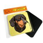 Posavaso acrilico salchicha dachshund negro