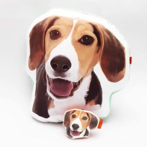 Pack Almohada Decorativa + llavero Beagle