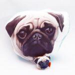 Pack Almohada Decorativa + llavero Pug