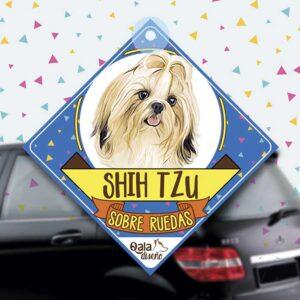 Colgante de auto de perro raza Shih Tzu