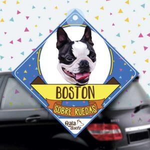 Colgante de auto de perro raza Boston