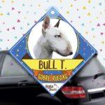 Colgante de auto de perro raza Bull terrier