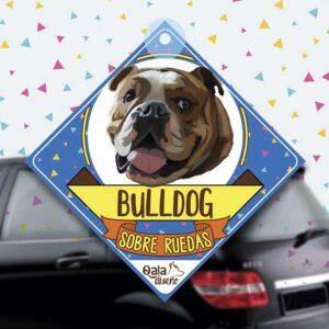Colgante de auto de perro raza bulldog ingles