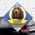 Colgante de auto de perro raza Cocker