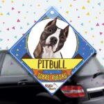 Colgante de auto de perro raza Pitbull