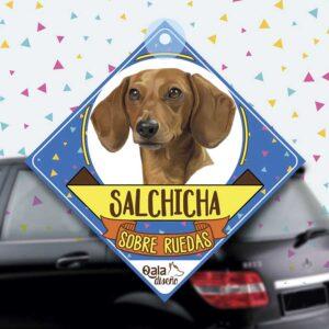 Colgante de auto de perro raza Salchicha