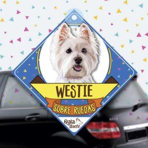 Colgante de auto de perro raza Westie