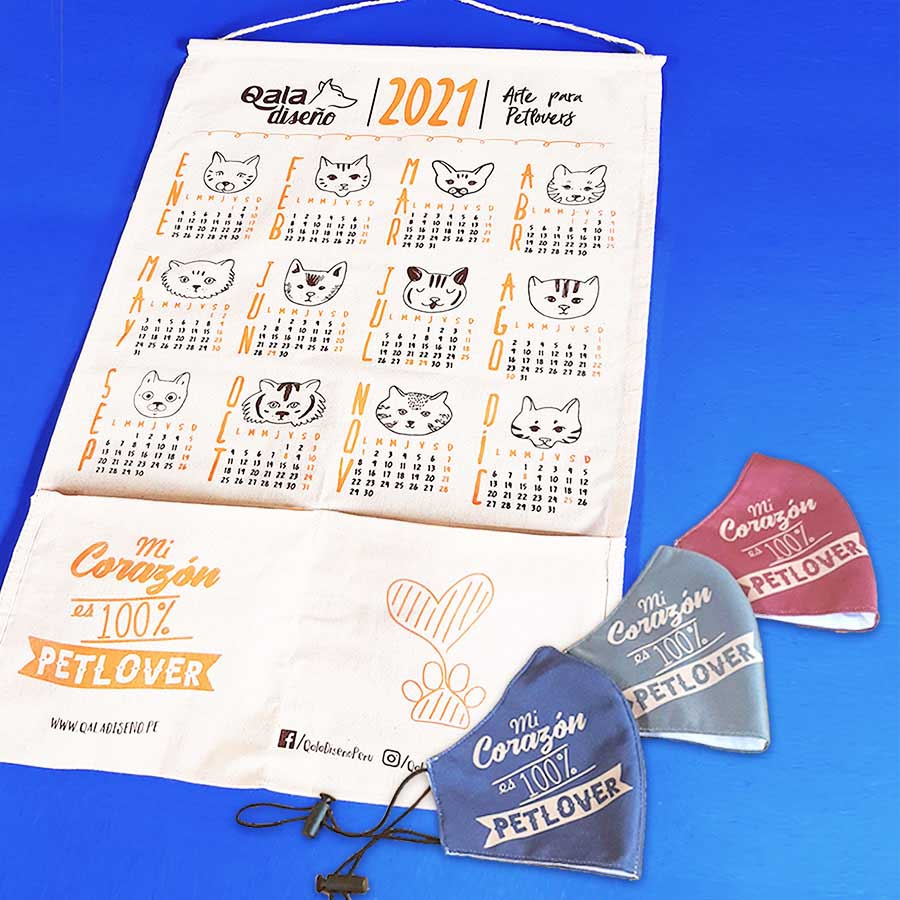 Promo Calendario catlover + mascarillas