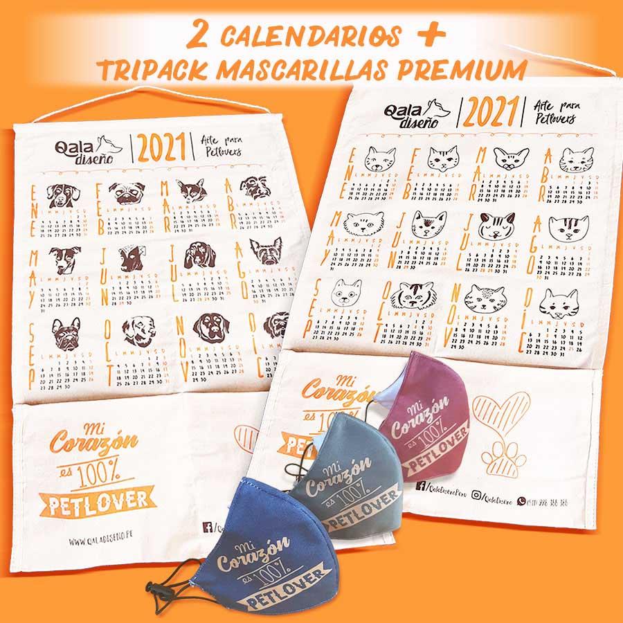 Promo Calendarios petlover + mascarillas