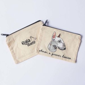 Monedero bordado bull terrier