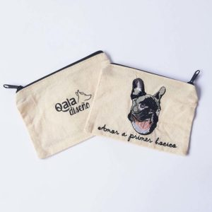 Monedero bordado bulldog frances