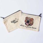 Monedero bordado bulldog inglés