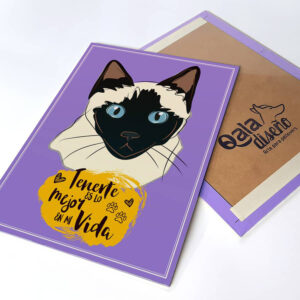 Letrero decorativo Gato Siames