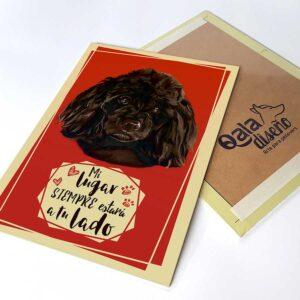 Letrero decorativo Poodle negro