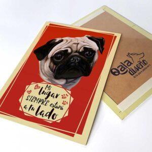 Letrero decorativo Pug