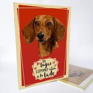 Letrero decorativo salchicha dachshund