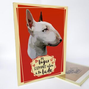 Letrero decorativo bull terrier