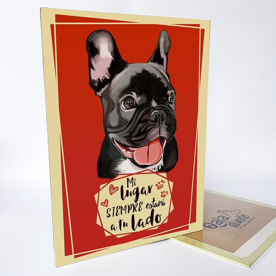 Letrero decorativo bulldog frances