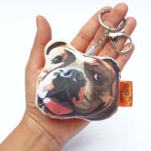 Llavero hecho a mano Bulldog Ingles