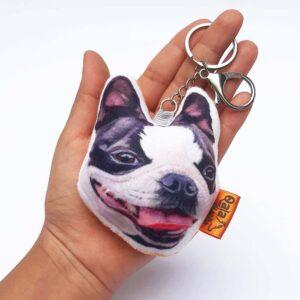 Llavero hecho a mano Boston Terrier